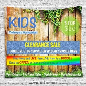 Other - KIDS BUNDLE ME 5 FOR $20 CLEARANCE SALE